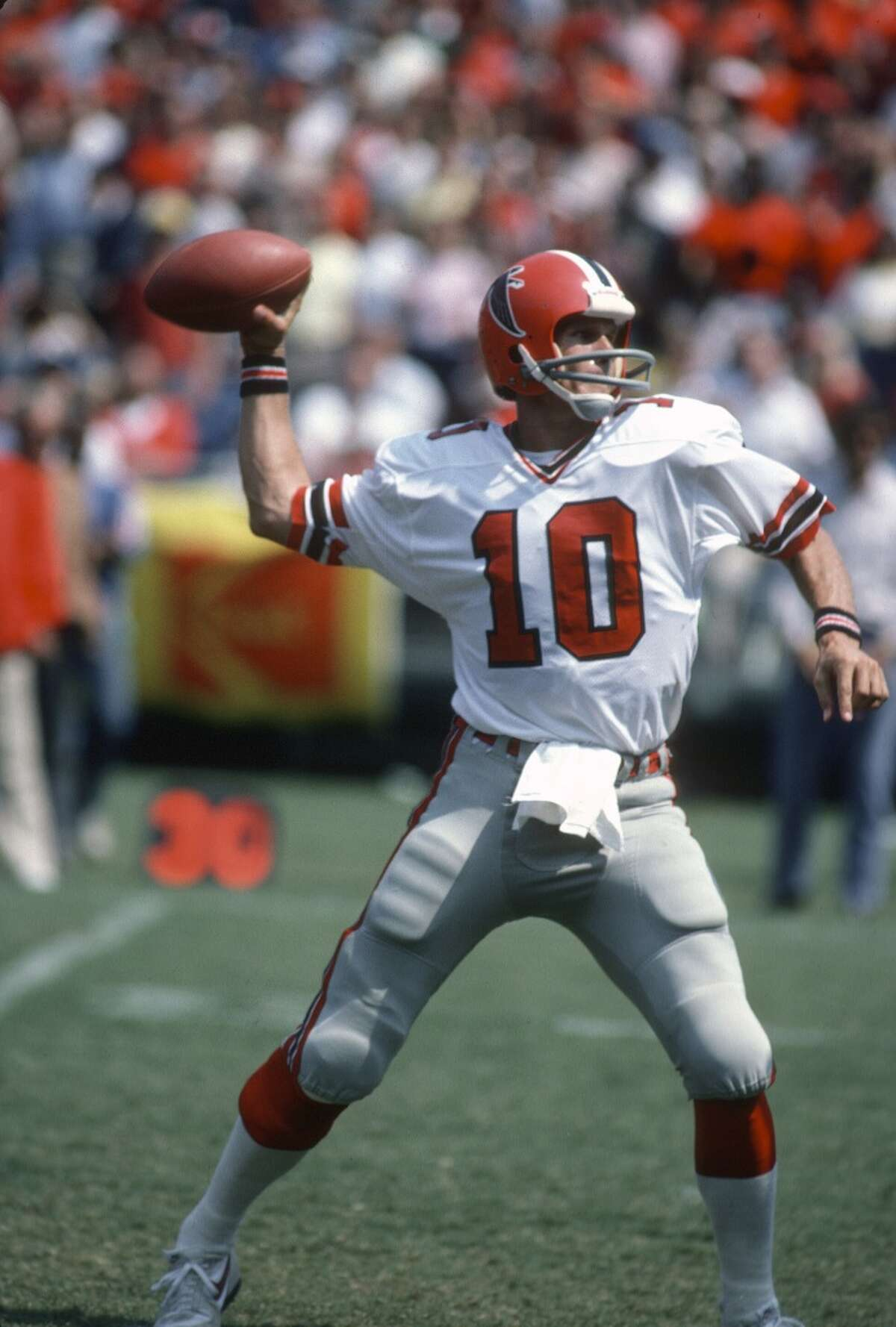 """Nov. 12, 1979: Falcons 20, Saints 17 In the final seconds, Steve Bartkowski's pass was tipped by teammate Wallace Francis to Alfred Jackson, who ran the last 10 yards on a play the Falcons called """"Big Ben,"""" aka the play that beats the clock."""