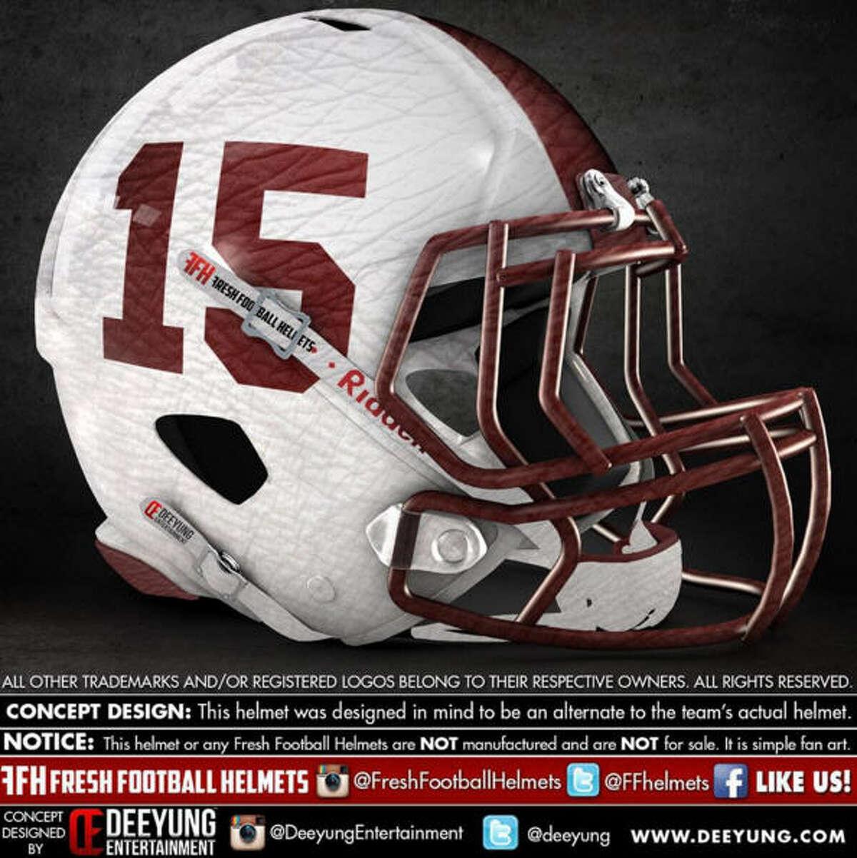 Alabama Crimson Tide concept football helmet by Dylan Young of Deeyung Entertainment.