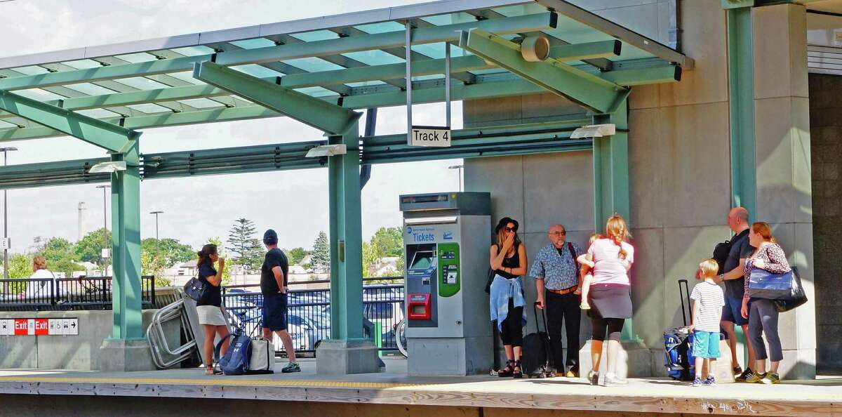 The platform at the Fairfield Metro train station.
