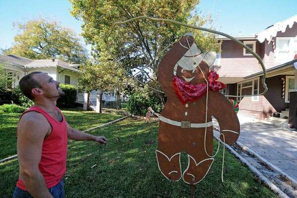 A giant gingerbread house in Seguin will be no more once the holiday season is over.