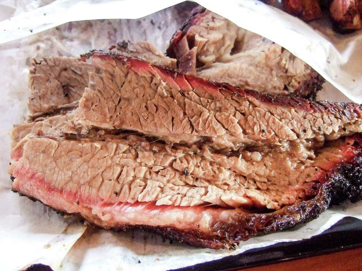 """""""Moist"""" brisket with fat cap attached."""