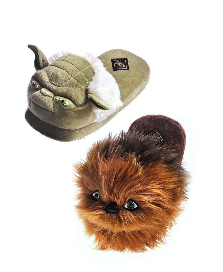Bioworld 'Star Wars' Yoda and Chewbacca Slippers:  $29.99 at Macy's.com. Photo: Macy's, HO / Chicago Tribune