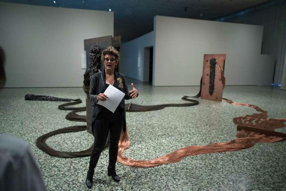 Maria Carmen Ramirez, Wortham Curator of Latin American Art during the Contingent Beauty Exhibit at the Museum of Fine Arts Houston on Thursday November 19, 2015 Photo: Jamaal Ellis, Freelance / ©2015 Houston Chronicle