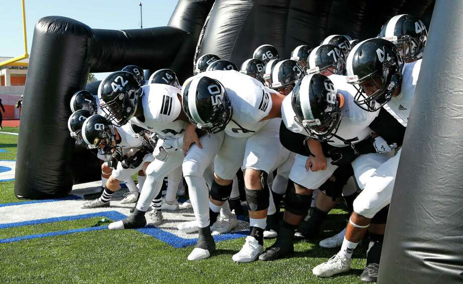 Steele football goes thru their routine before entering the field in the Class 6A Division II second-round high school football game at Heroes Stadium on Nov. 22, 2015 Photo: Ron Cortes /Express-News