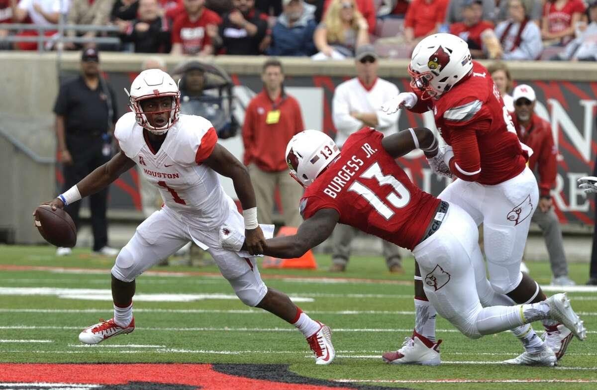 Sept. 12, 2015: Demarcus Ayers' 15-yard touchdown catch with 3:09 remaining sends UH to 34-31 win at Louisville