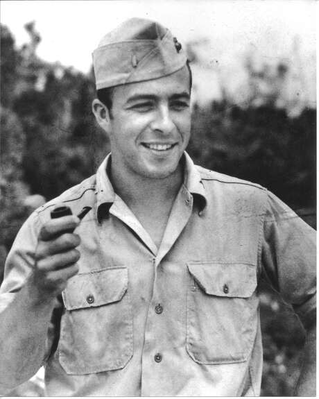 U.S. Marine Corps member George Shultz during his World War II service in the Pacific Theater, circa 1943. (Courtesy George Shultz) Photo: Catherine Bigelow, Special To The Chronicle