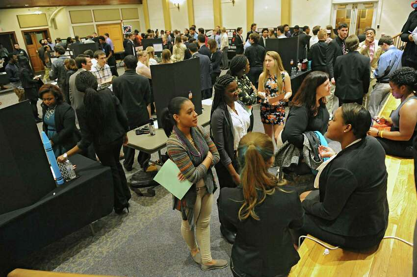 Saint Rose business students propose ideas for revitalized downtown Albany at the OFundamentals of BusinessO session at the College of Saint Rose on Wednesday Dec. 2, 2015 in Albany, N.Y. (Lori Van Buren / Times Union)