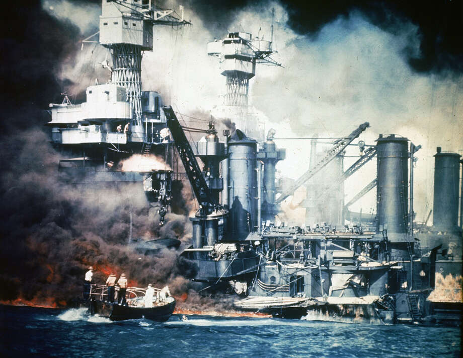 Japanese attack on the US Naval base at Pearl Harbour; 7th December 1941 Photo: Universal History Archive, Getty Images / Universal Images Group Editorial