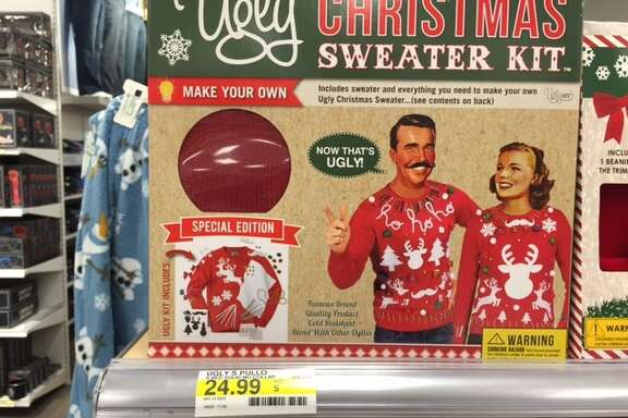 Ugly Christmas sweater kits: turning satire into practical joke