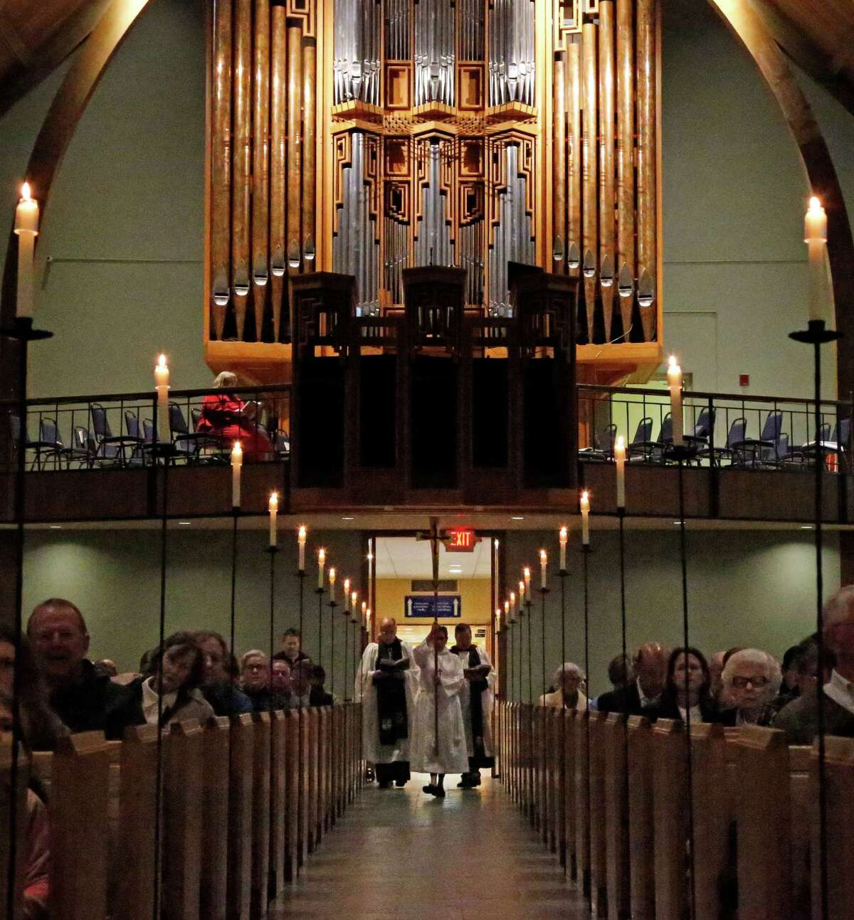 A Silent Procession started the Advent Lessons and Carols Service at St. Luke's Episcopal Church on Nov. 29, days after the K-8 parish school informed parents it would accept and embrace a transitioning transgender student.
