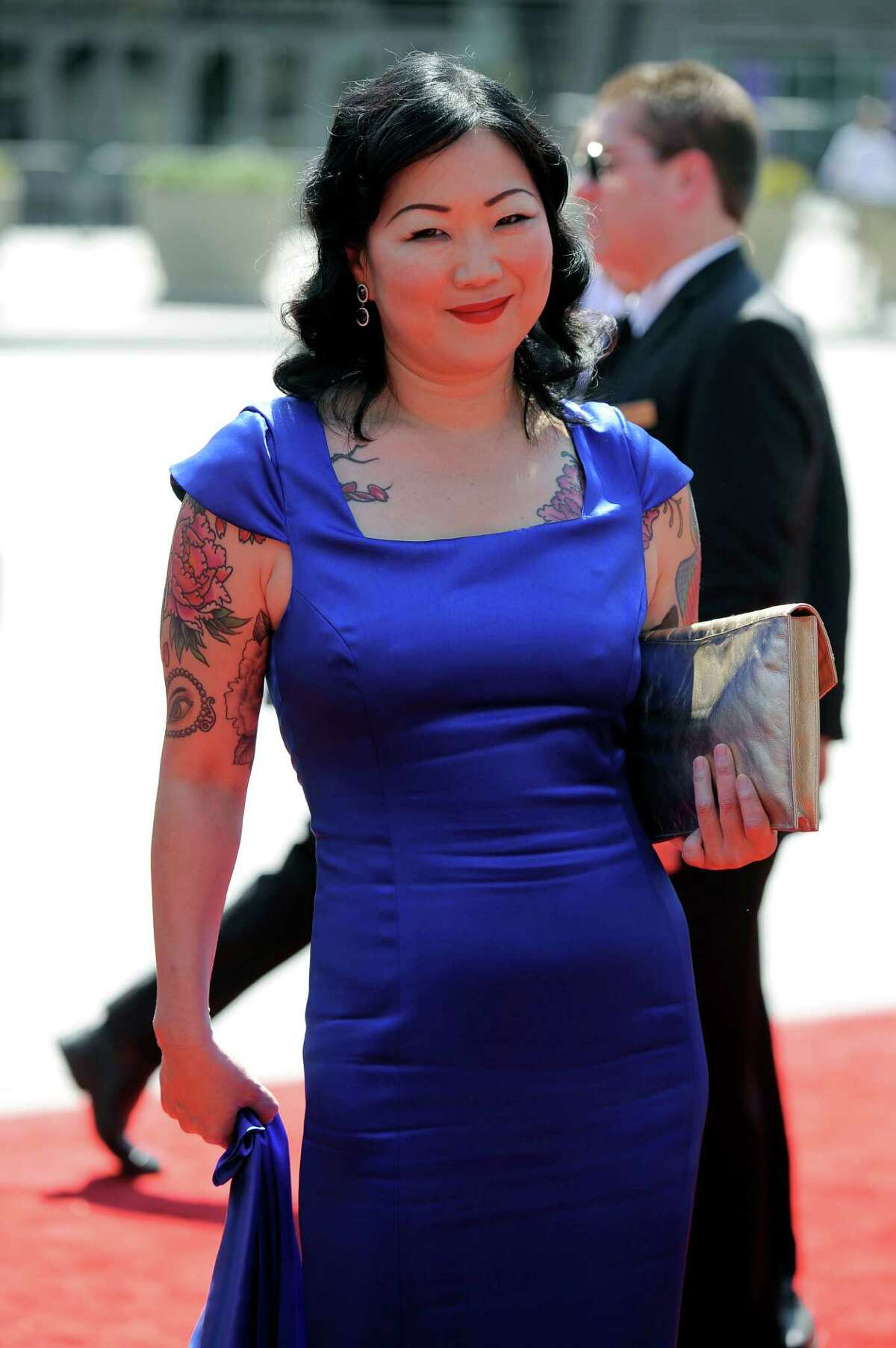Margaret Cho arrives at the 2012 Creative Arts Emmys at the Nokia Theatre on Saturday, Sept. 15, 2012, in Los Angeles. (Photo by Chris Pizzello/Invision/AP)