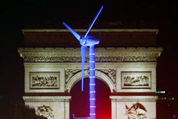 Windmill at Paris Climate Change Summit.