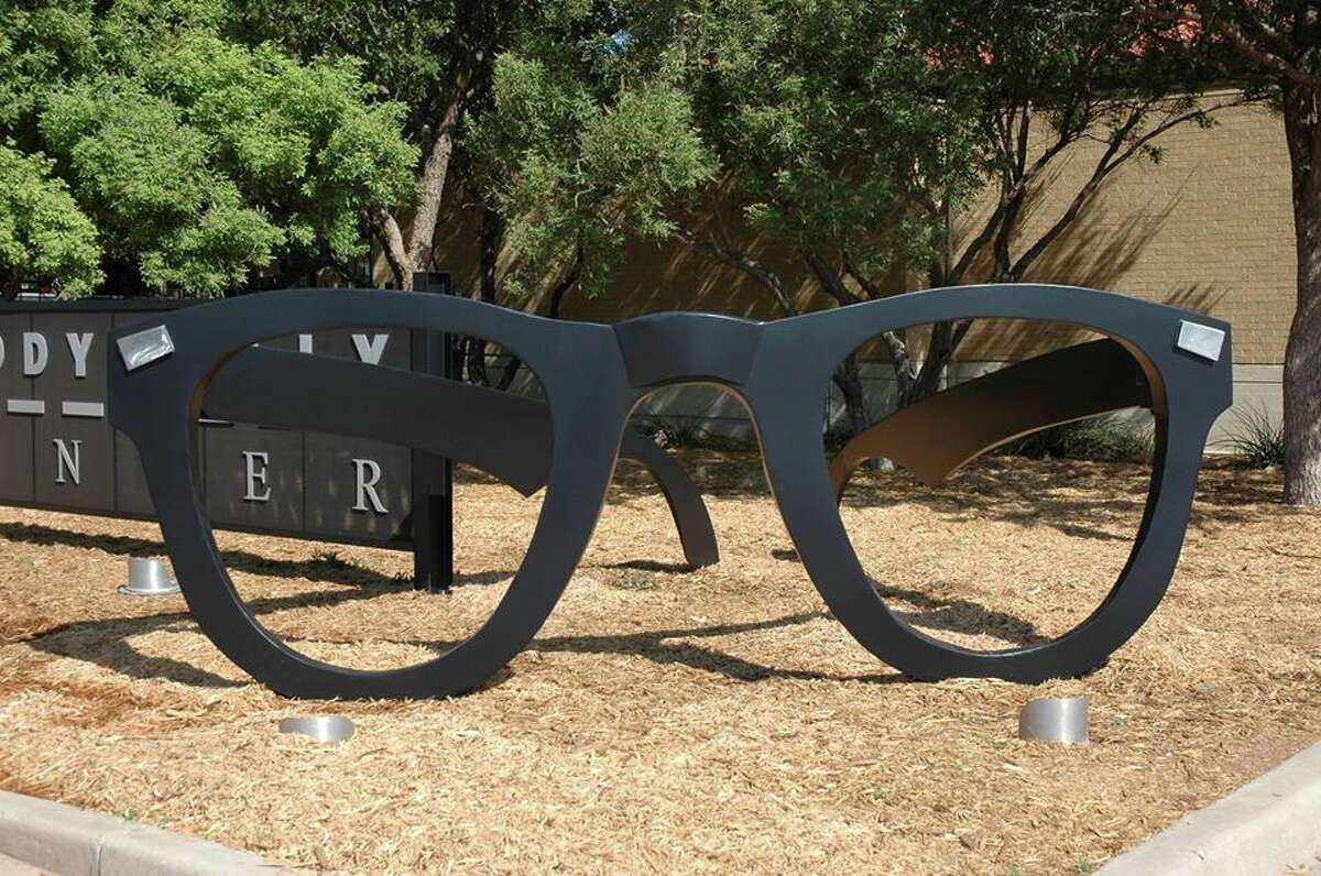 Buddy Holly's trademark black-rimmed glasses were thrown clear of the plane wreckage in the crash that killed Holly. They were found when the snow melted in the spring.