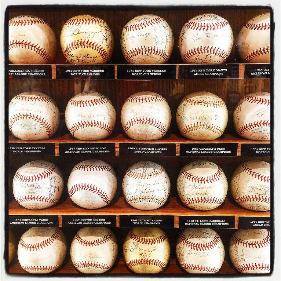 The Hall of Fame baseball collection of Allan Byer which begat his new Cooperstown SF exhibit. Dec 2015. Photo: Catherine Bigelow, Special To The Chronicle