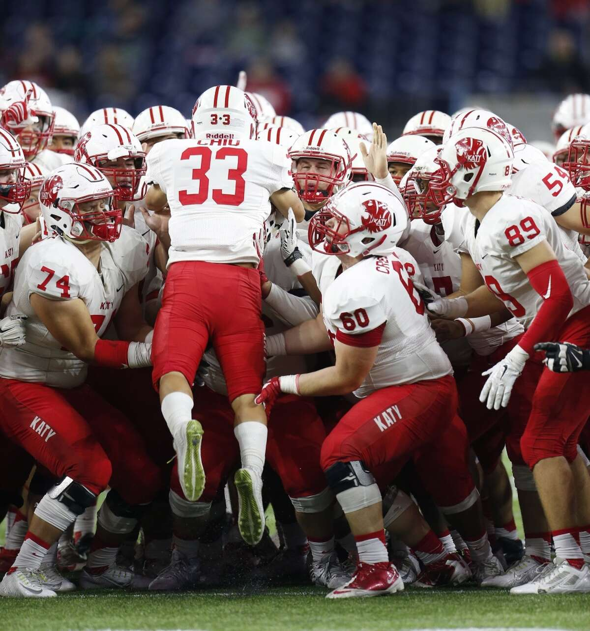 This year's postseason has looked a lot like last year's for Katy. The Tigers beat Westside in the first round both years and clinched the regional title with wins over Manvel both times, too. For the second year in a row, Katy will meet Cibolo Steele in the state semifinals. Katy won, 27-20, in overtime last year. The Tigers also beat Steele in the semifinals in 2012 (45-33).