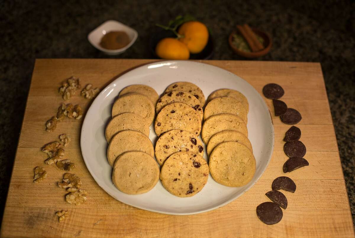 Sarah Bonar's icebox cookie dough cookies are on display in her home kitchen on Monday, Nov. 30, 2015 in San Francisco, Calif.