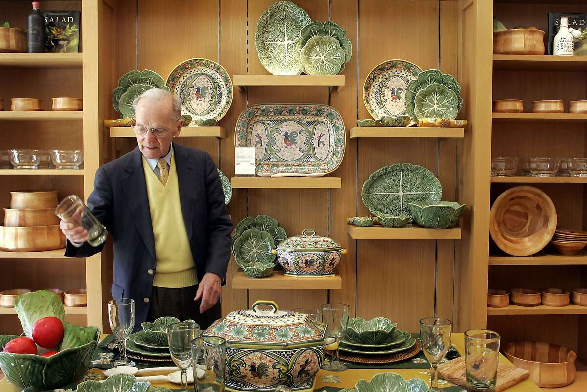 Williams-Sonoma founder Chuck Williams at his shop when he turned 90. The store owner worked on cookbooks for the store until well into his 90s. He turned 100 in October.