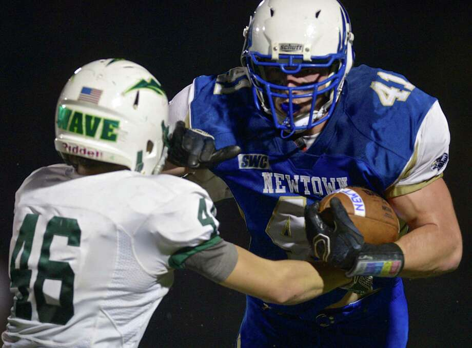 Newtown's Ben Mason has seen his offensive production rise in the past several weeks and it has paid off with the Nighthawks reaching the Class LL state semifinals. Photo: H John Voorhees III / Hearst Connecticut Media / The News-Times