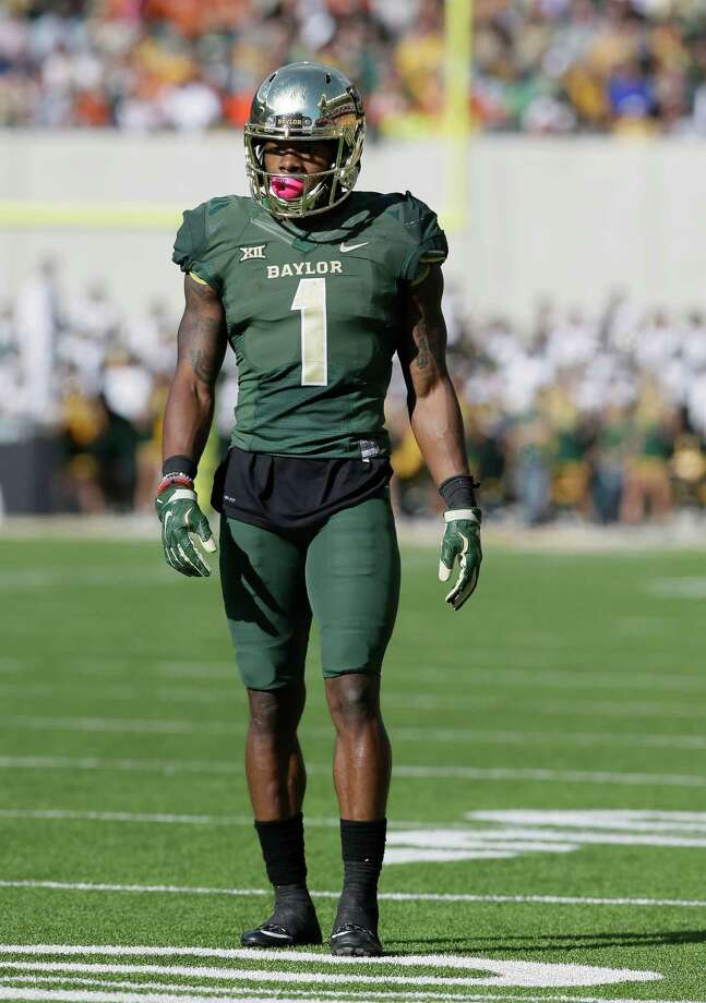 Baylor wide receiver Corey Coleman (1) lines up during the first half of an NCAA college football game Saturday, Dec. 5, 2015, in Waco, Texas. (AP Photo/LM Otero) Photo: LM Otero, STF / Associated Press / AP