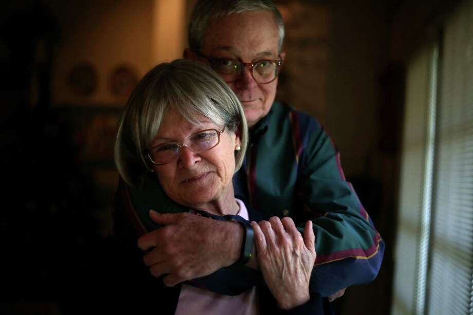 "Mark and Dianne Duncan, both cancer survivors, feel ""deserted"" by the plan their insurer offered them. Photo: Elizabeth Conley, Staff / © 2015 Houston Chronicle"