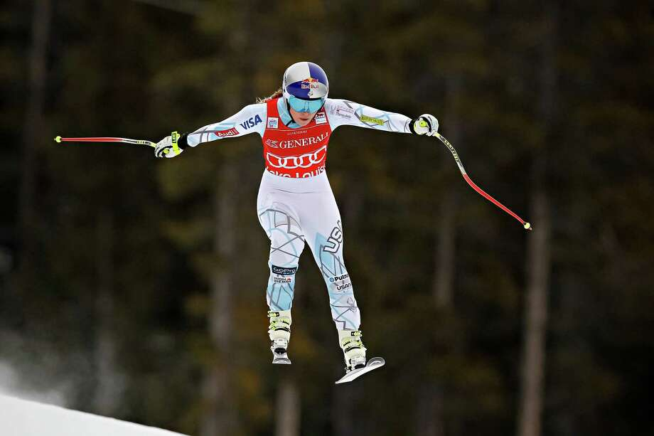 Lindsey Vonn's season is off to a soaring start as she won for the second time in two days by capturing Saturday's downhill event at Lake Louise. Photo: Alexis Boichard/Agence Zoom, Stringer / 2015 Getty Images
