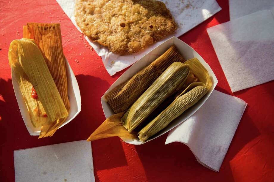 Tamales sit on a table before being eaten during the sixth annual Tamales Holiday Festival at the Pearl Brewery on December 5, 2015 in San Antonio, Texas. Photo: Carolyn Van Houten / Carolyn Van Houten / 2015 San Antonio Express-News