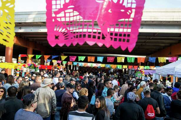 Thousands of people attend the sixth annual Tamales Holiday Festival at the Pearl Brewery on December 5, 2015 in San Antonio, Texas.