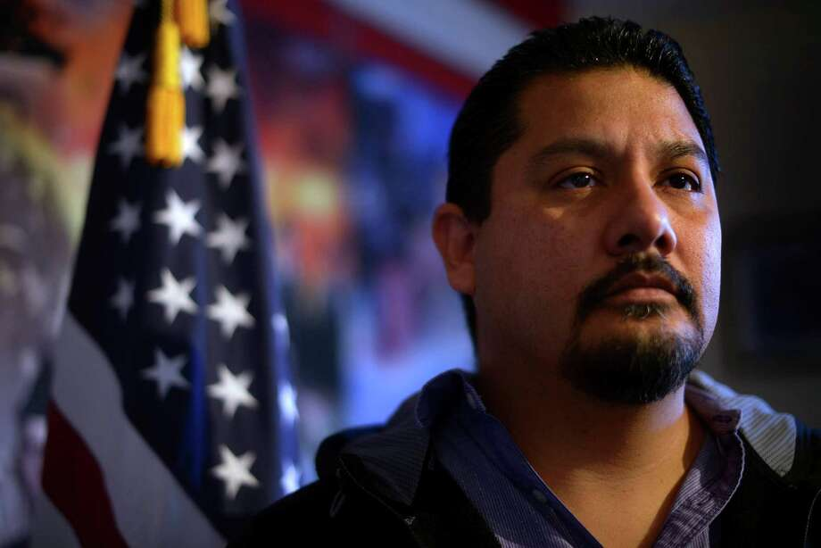Jose Campos is a Marine Corps veteran and a member of VFW Post 76. The Veteran Administration should be held accountable for its failure to take care of him. Photo: Billy Calzada /San Antonio Express-News / San Antonio Express-News