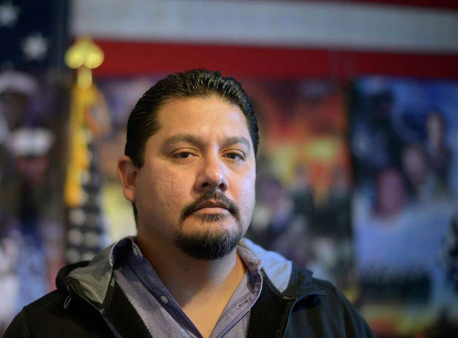 Jose Campos is a Marine Corps veteran and a member of VFW Post 76. Dec. 4, 2015 Photo: Billy Calzada, Staff / San Antonio Express-News / San Antonio Express-News