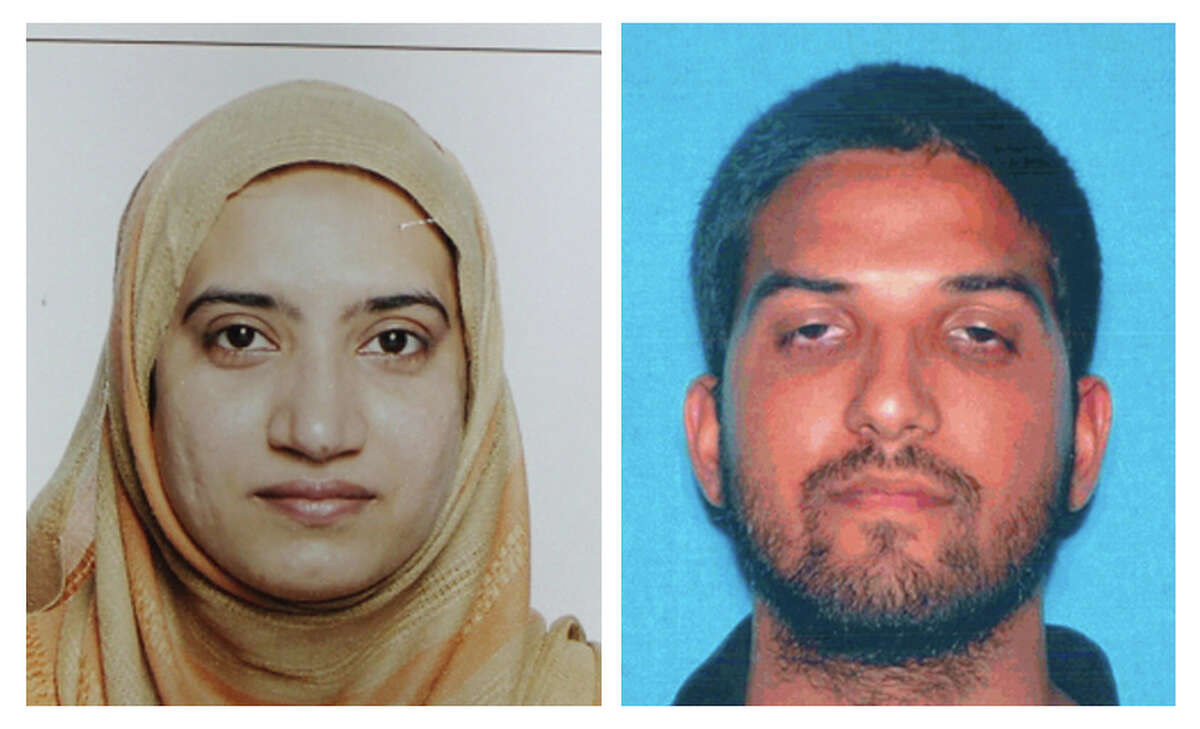 Tashfeen Malik, left, and Syed Farook: The couple died in a fierce gun battle with authorities on Wednesday, Dec. 2, several hours after their commando-style assault on a gathering of Farook's colleagues from the San Bernardino, Calif., county health department.
