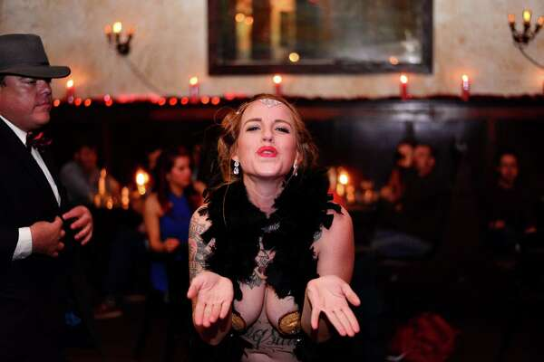 Things got ritzy and a bit naughty at The Esquire Tavern Saturday, Dec. 5, 2015, as patrons packed the bar to celebrate Repeal Day and the tavern's birthday, in style.