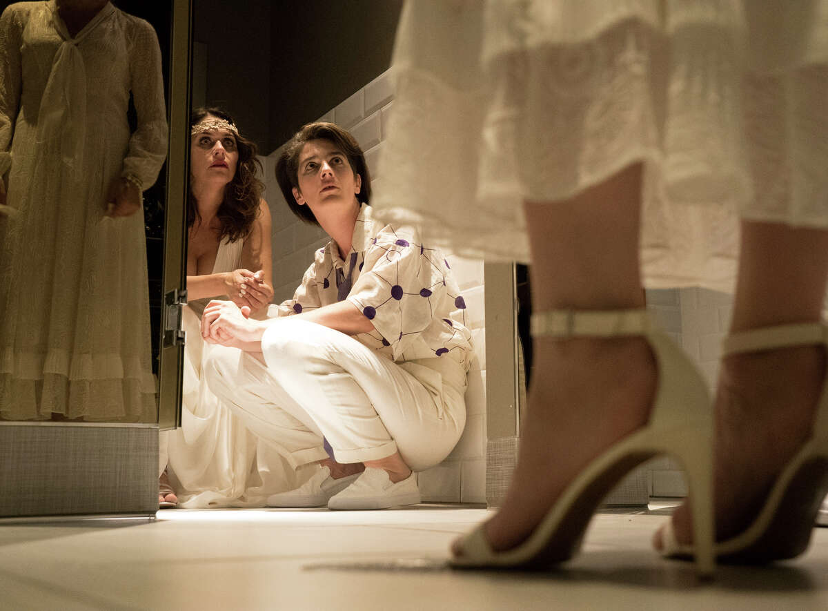 """Sarah (Amy Landecker) and Ali (Gaby Hoffmann) star in the second season of """"Transparent,"""" in which Sarah marries."""