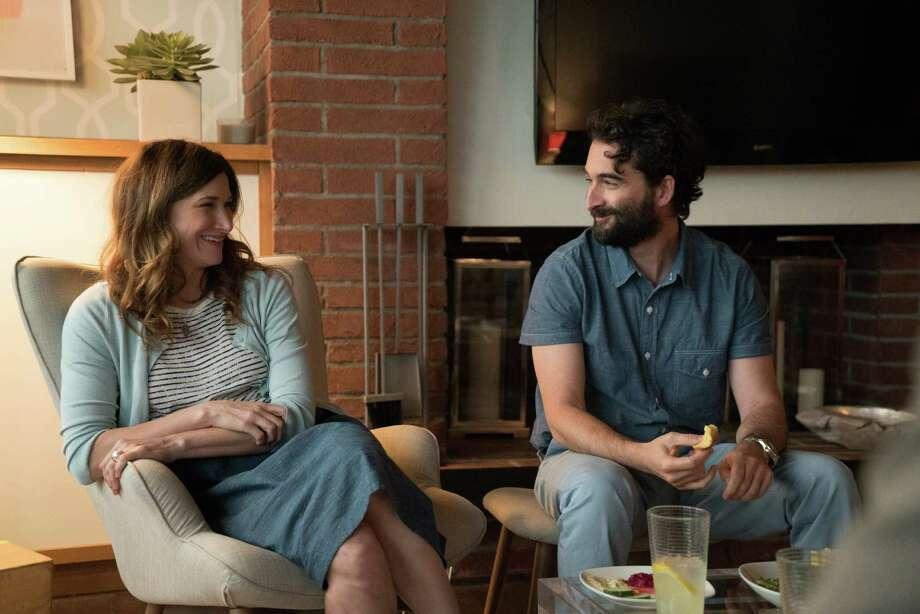 "Rabbi Raquel Fein (Kathryn Hahn) is dating Joshua (Jay Duplass) in ""Transparent."" Photo: Amazon Studios / Amazon Studios"