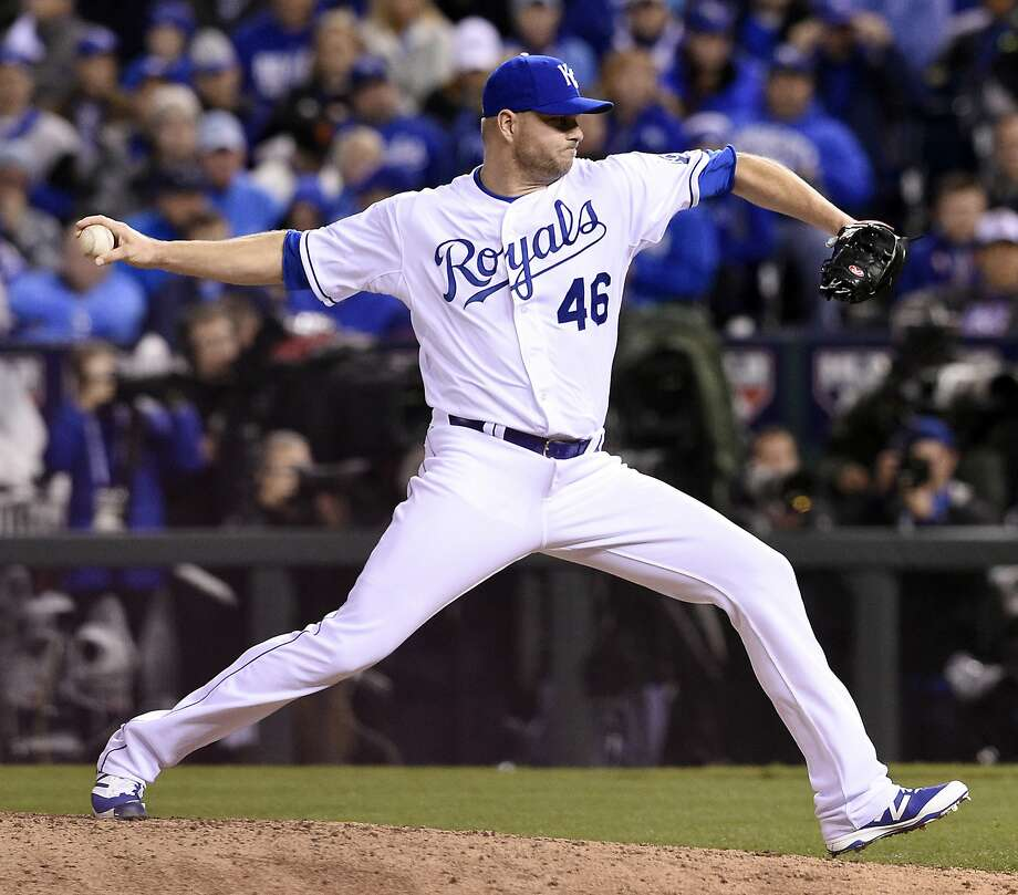 Newly signed A's reliever Ryan Madson, who won World Series with the Phillies and the Royals, had a 2.13 ERA in Kansas City last season. Photo: Shane Keyser, McClatchy-Tribune News Service