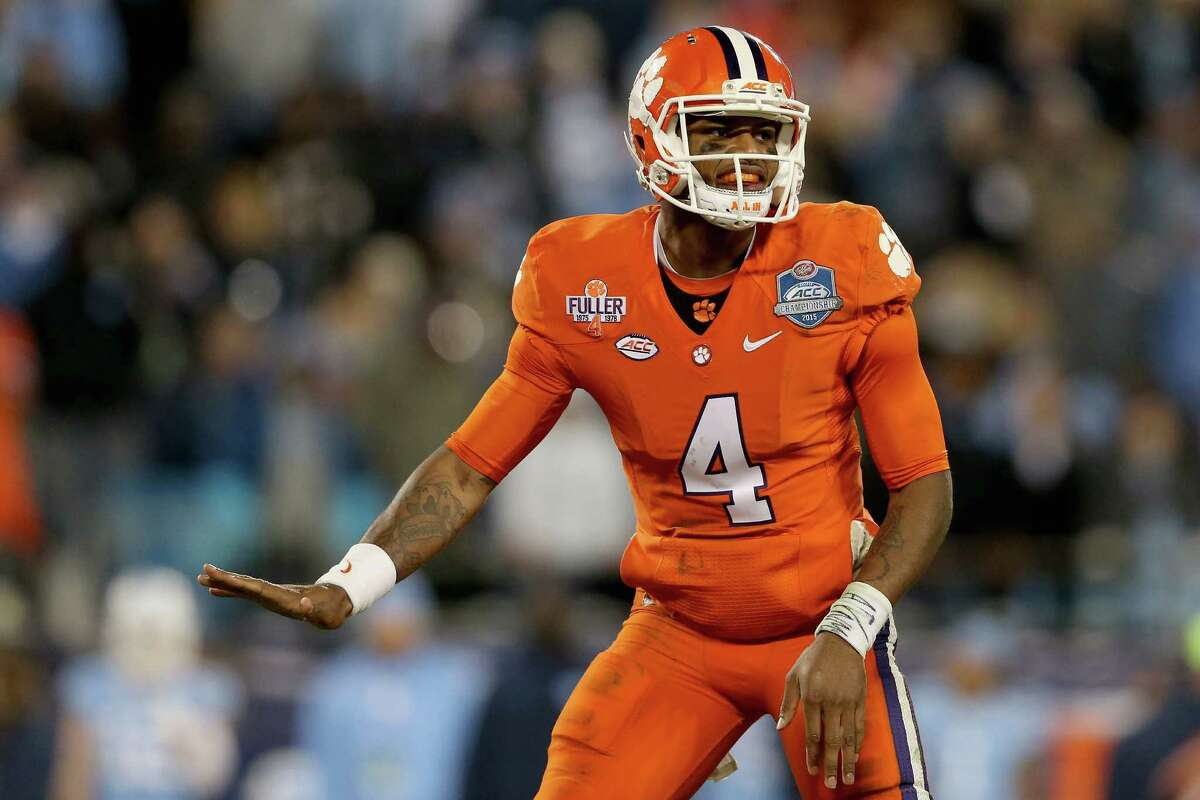 Deshaun Watson, QB, Clemson 8-to-1 Even in a losing cause, Watson was impressive in the national championship game - invoking comparisons to Vince Young. That might be blasphemous in Texas, but there's no doubt Watson is really good.