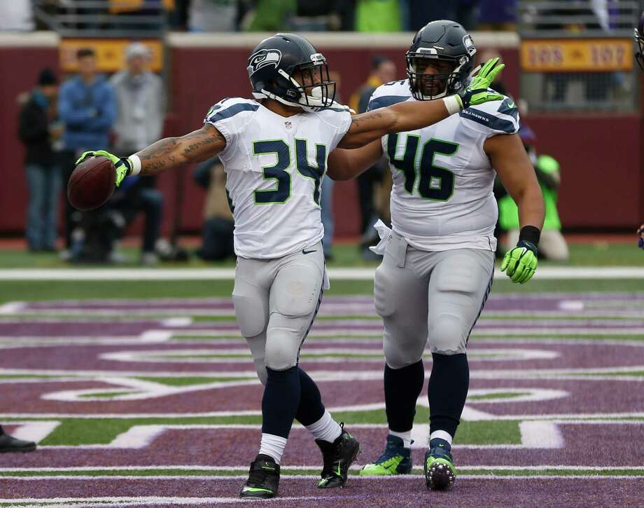 Rookie Thomas Rawls wasn't a known commodity after coming out of Central Michigan and being passed up in the 2015 NFL draft. But the 22-year-old has morphed into a legitimate AP Offensive Rookie of the Year candidate filling in for an injured Marshawn Lynch. In 12 games (six starts), Rawls has rushed 141 times for 786 yards and four touchdowns. His 5.6 yards-per-carry is second in the NFL. Photo: Jim Mone, Associated Press / AP