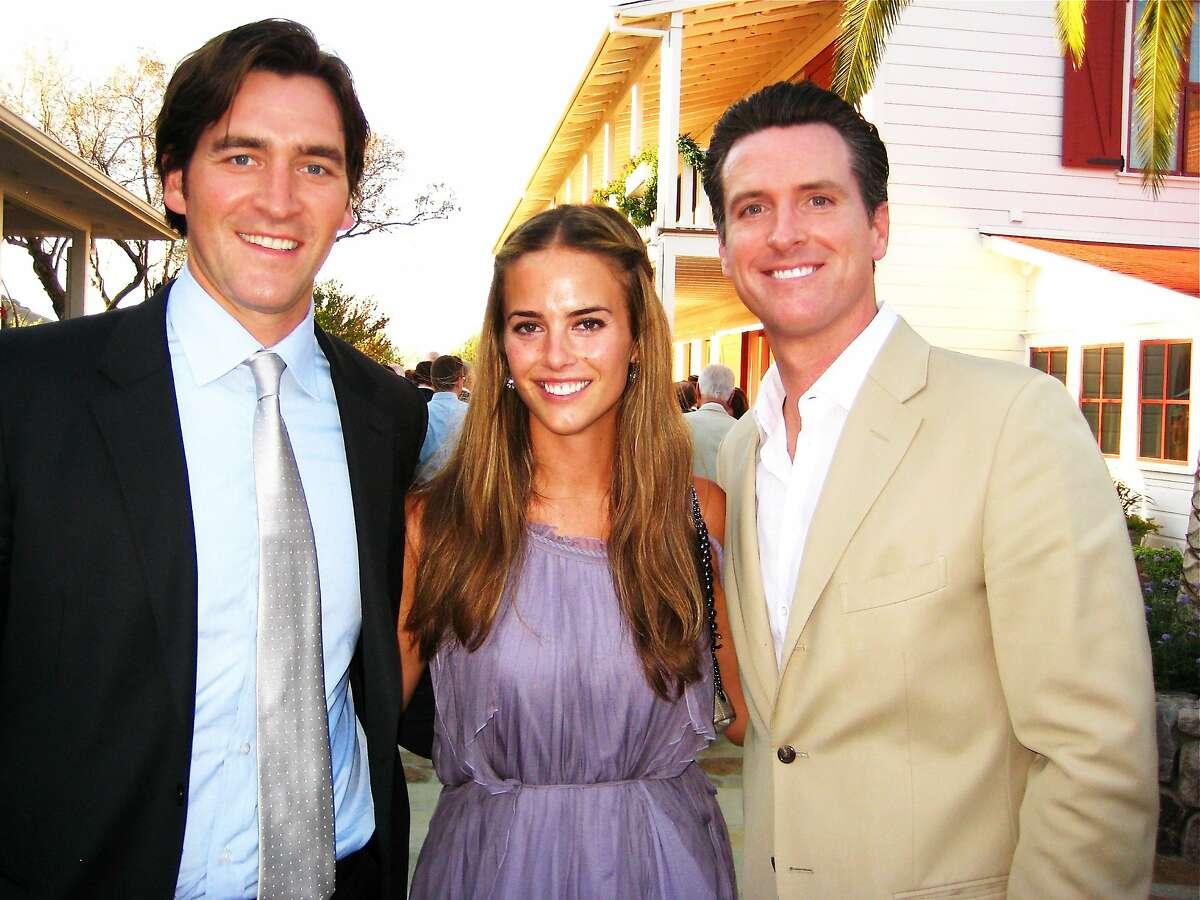 Josh Schiller, Melissa Siebel and Gavin Newsom in a 2010 file photo