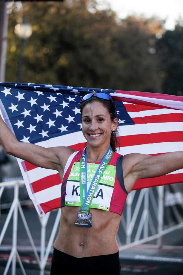Kara Goucher, who won the women's half marathon Dec. 6, is headed for the 2016 Olympic Tryouts in February. Photo: Julysa Sosa / For The San Antonio /San Antonio Express-News / San Antonio Express-News