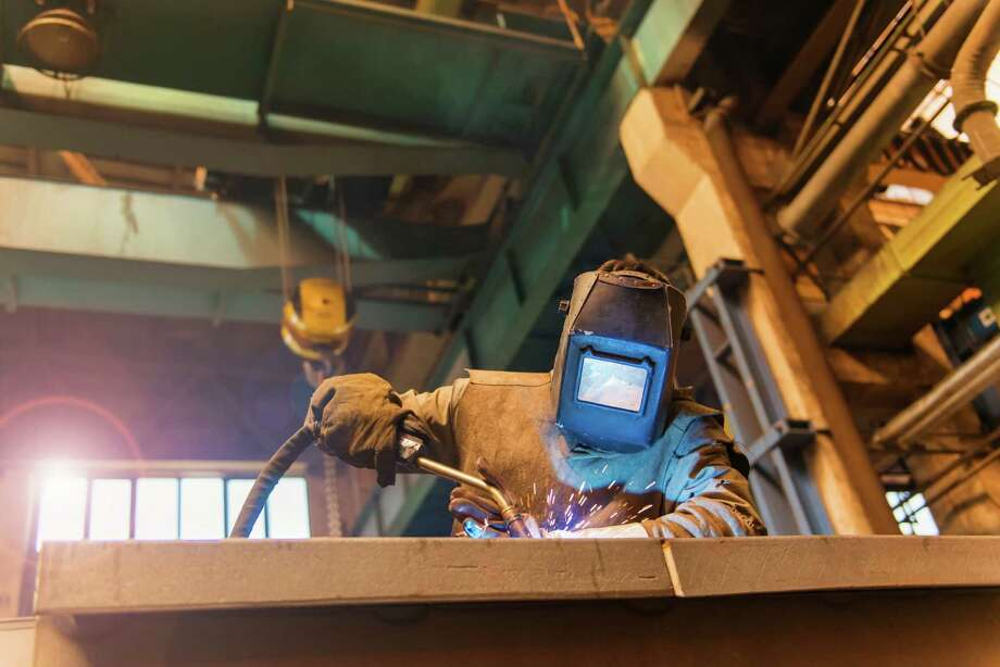 Welders are in demand in a variety of industries, and a no degree is required to receive certification. / iStockphoto