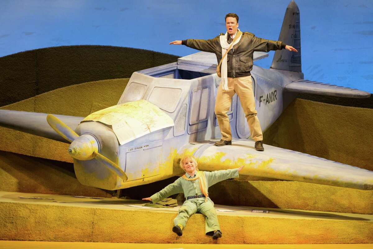 """Joshua Hopkins (top) is the Pilot and Andy Jones has the title role in """"The Little Prince"""" at Houston Grand Opera."""