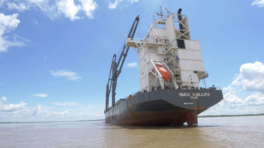 The Yacu Kallpa, a Peruvian-based ship has regularly brought shipments of Amazon lumber from Peru to Houston for years. On its return trips, it transports oil flield supplies and other materials. Photographed in Iquitos on Nov. 27, 2015. Photo: Lisa Olsen, Courtesy Photo / handout
