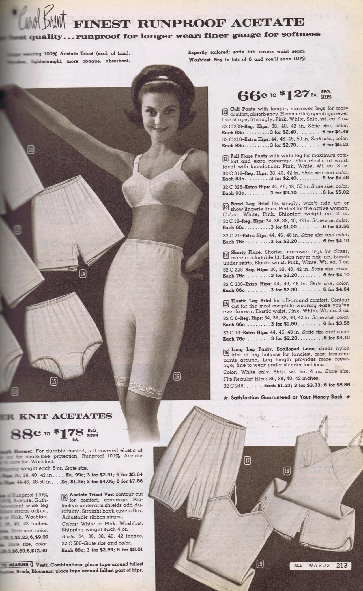 Old Photos Sears Catalog Panties Png