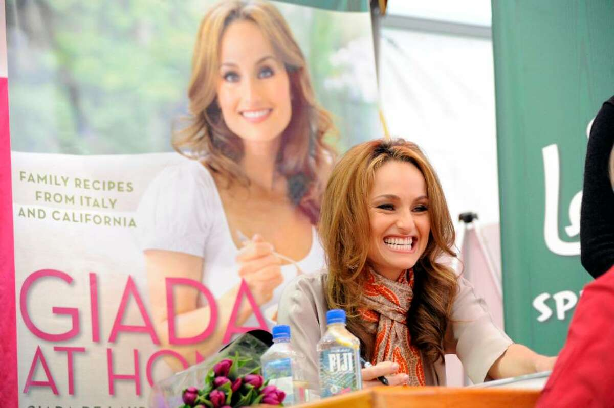 Celebrity chef Giada De Laurentiis greets fans as she signs copies of her new book