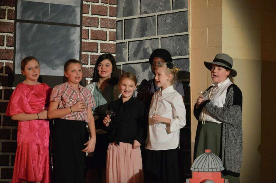 Were you seen performing on stage or behind the scenes during Sand Creek Middle School's production of 'Bugsy Malone'  on December 3-5 in Colonie, NY? Photo: Courtesy Of Sand Creek Middle School