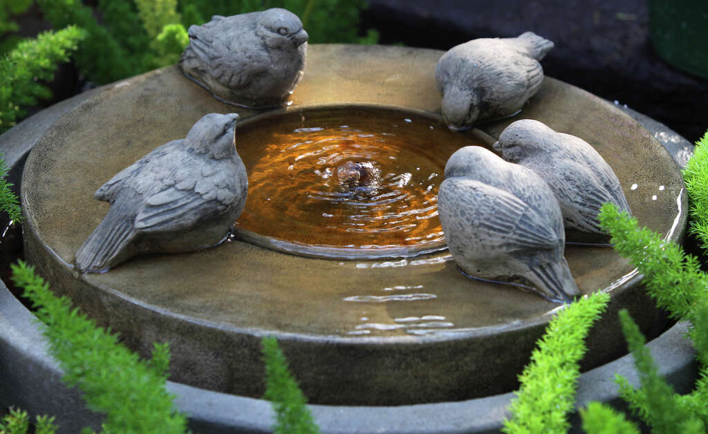Bird Baths And Fountains Are Great Gifts For Gardeners. Photo: John  Davenport /San