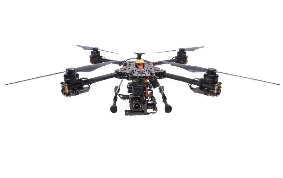 A quadcopter drone like this was used by the Corpus Christi Police Department to assist officers on the ground in seeking out suspects that were believed to be armed.