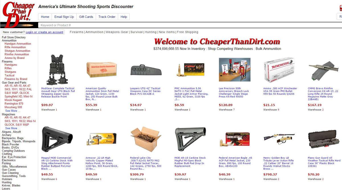 Cheaper Than Dirt's website