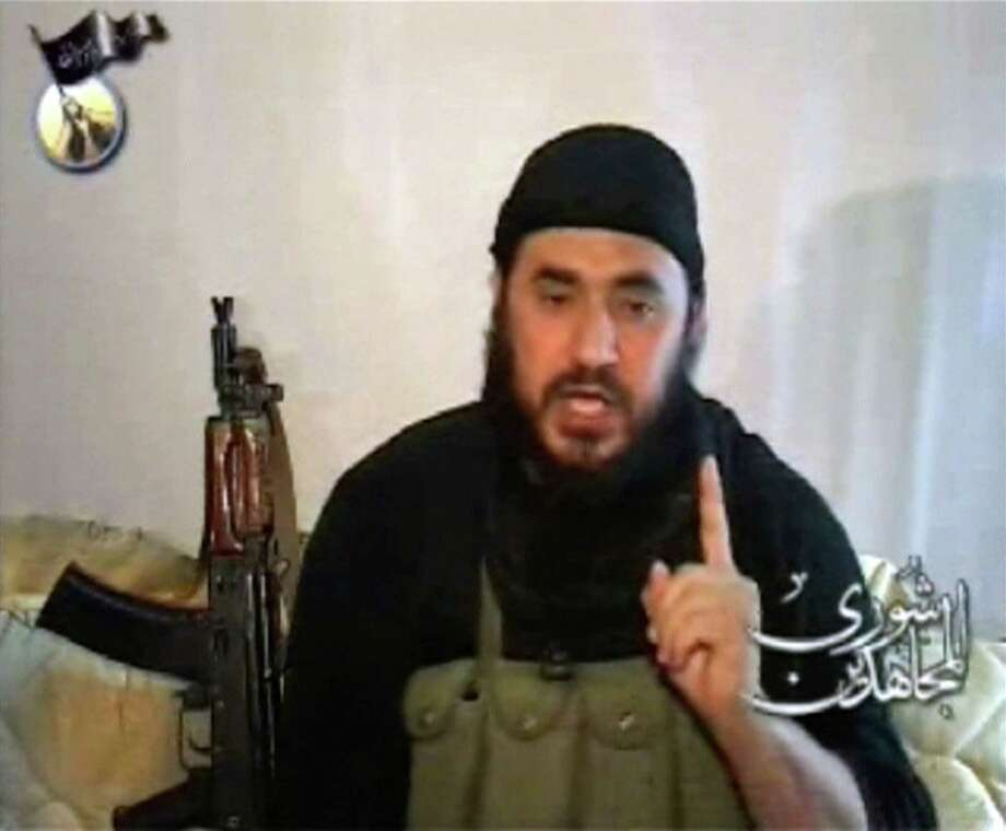 Thefound of ISIS, Abu Musab al-Zarqawi, speaks in a rare video posted on the Internet on April 25, 2006. Photo: REUTERS