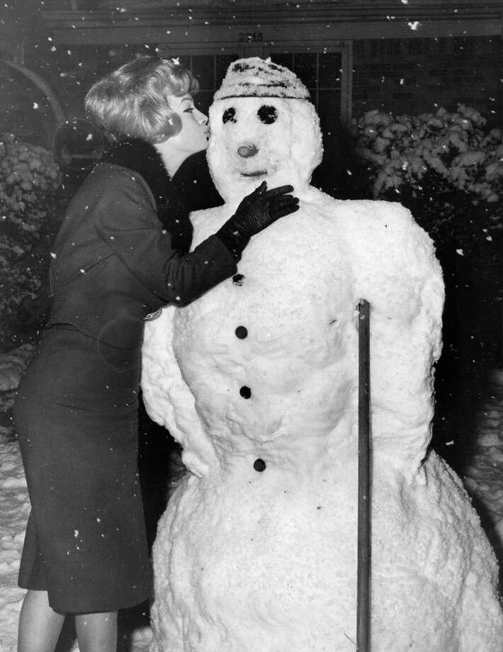 Jeanne Johnson of 1937 W. Main, February 1960. Photo: Jim Morgan, Houston Chronicle / Houston Chronicle