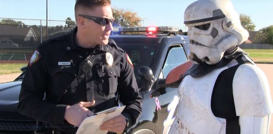 """The Stafford Police Department has produced its own """"Star Wars"""" parody video in anticipation of the newest film in that mega-popular franchise. Photo: Stafford Police Department"""